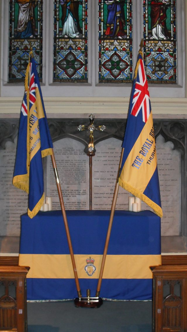 Royal British Legion Altar Cloth and Standards at St Michael & All Angels, Thurmaston