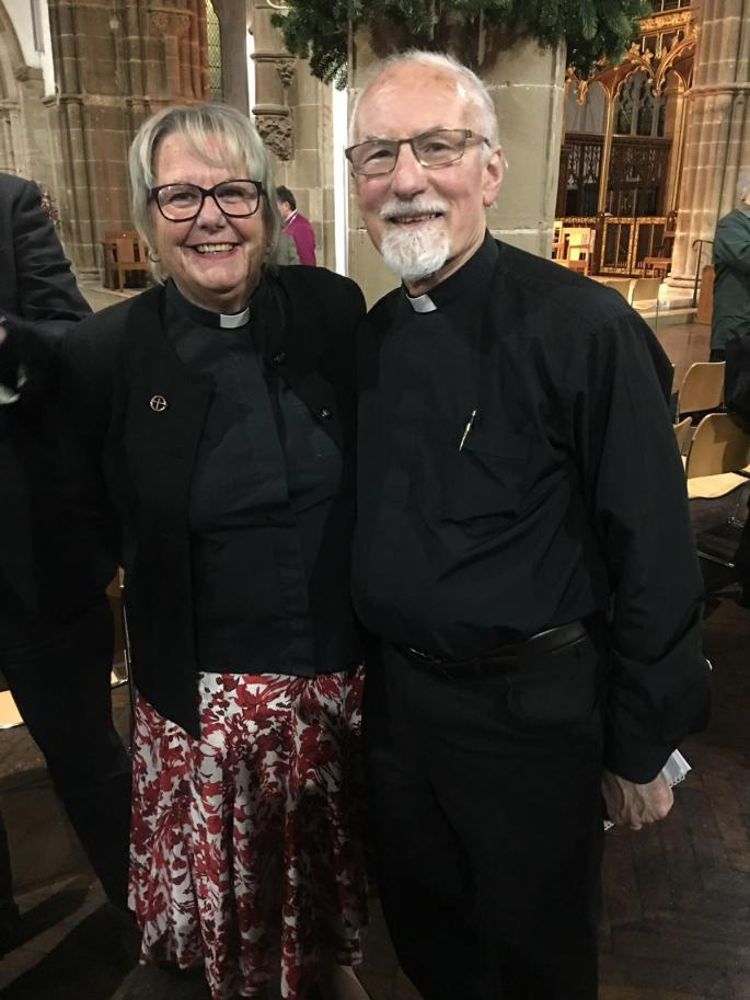 Rev T Robin Martin with Rev Lynne Padmore